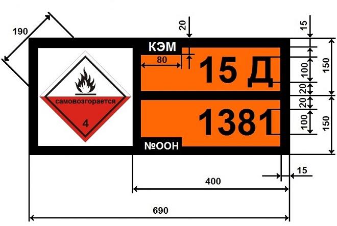 Знак перевозка опасных грузов