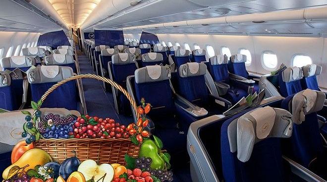 Фрукты в ручной клади в самолете