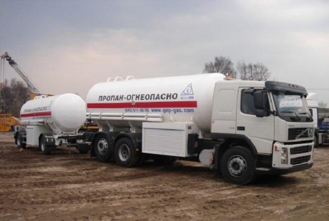 Перевозка газа автотранспортом