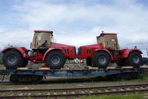 Перевозка транспорта по железным дорогам