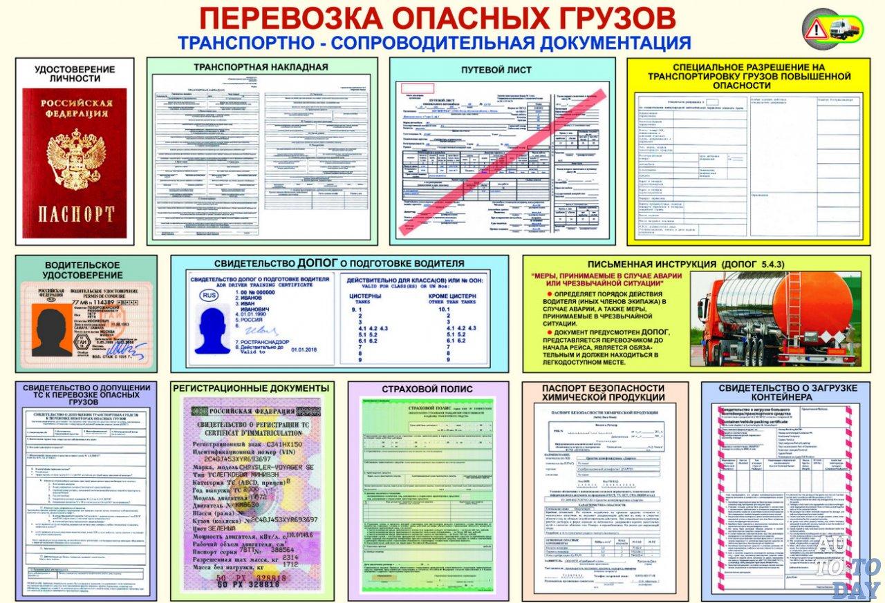 Разрешительная документация для перевозки грузов повышенной опасности